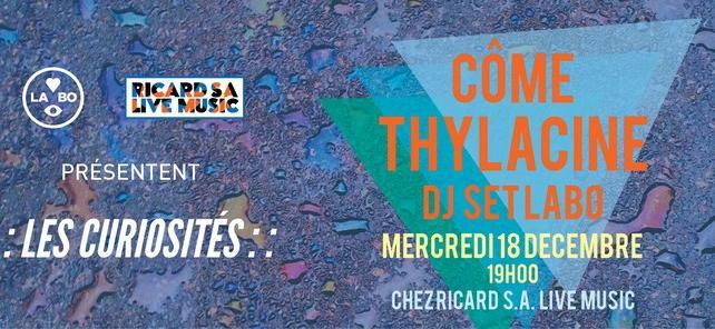 Les Curiosités #1 by Ricard S.A Live Music et Le Labo